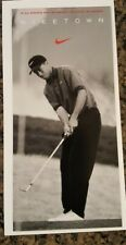 VERY RARE 8.5x 4  1996 NIKETOWN Tiger Woods Rookie card flyer MINT