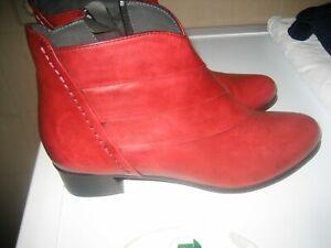 Everybody Damen Stiefeletten Gr. 37 Farbe rot neu