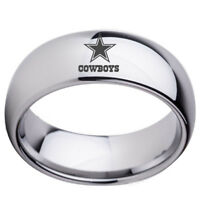 Dallas Cowboys Football Team Stainless Steel Rings Men Women Size 6-13 Silver