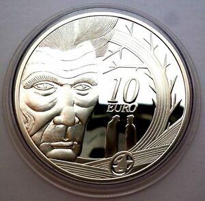 Ireland 10 Euro 2006 Silver coin proof - Samuel Beckett - Eire Harp (T112)X