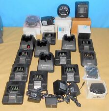 + Lot Oem Motorola Accessories Base Chargers Cables Adapters Antennas Clips Huge