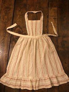 Laura Ashley Vintage 70's Prairie Cottagecore Pinafore  Overdress 10 12 14