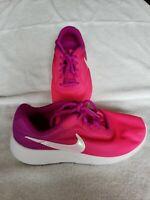 Nike Tanjun Print  Girls Pink Violet Running Shoes AV8859-500 Size 3Y