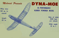 "Model Airplane Plans (FF): Midwest DYNA-MOE 33-3/4"" Wingspan Rubber-Powered"