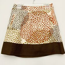 Banana Republic Women's Skirt Brown Tan Maroon Lined Pockets Sz 2P Petites