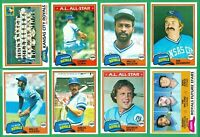 1981 TOPPS KANSAS CITY ROYALS TEAM SET NM/MT  WILSON  QUIZ  WHITE  GEORGE BRETT
