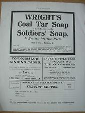 Vintage Impresión-Wright 's anuncio de julio de 1916 Jabón alquitrán de hulla