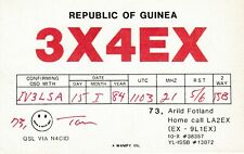 8519 Amateur Radio QSL Card  REPUBLIC OF GUINEA