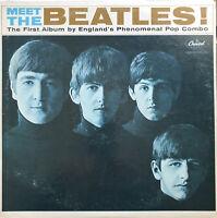 THE BEATLES MEET THE BEATLES LP CAPITOL MONO RAINBOW RIM 1964 PRESS VG/EX COVER!