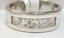 14K WHITE GOLD WEDDING ANNIVERSARY  RING 1.50ct. VS1-G