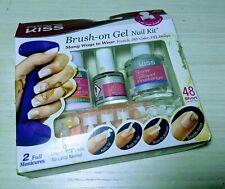 Kiss Brush on GEL Nail Kit 48 Short Length Tips Kglk01