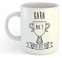 Kara - Mundo Best Mum Trofeo Taza - para Mothers Día Regalo,Personalizado,Nombre