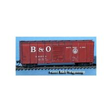 "N SCALE: ""B&O WAGON TOP BOXCAR, RIBBED DOOR, LARGE LETTERS"" - FNS #FNR-2011"