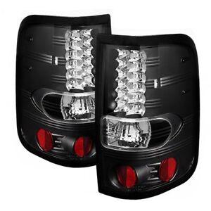 SPYDER BLACK LED TAIL LIGHTS For Ford F150 04-08 #5003249