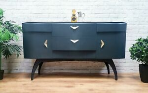 Luxury Vintage Art Deco TV Stand Media Unit Sideboard Credenza Buffet Console