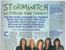 T13 Clipping ritaglio 1998 Stormwitch intervista interview Gianluca Grazioli