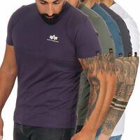 Alpha Industries Herren Herrenshirt T-Shirt kurzarm Shirt Rundhals Logo 188505