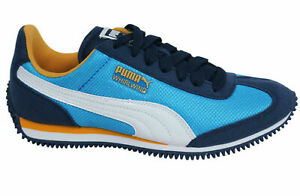 Puma Whirlwind Mesh Lace Up Textile Synthetic Junior Trainers 357232 13 Y19A