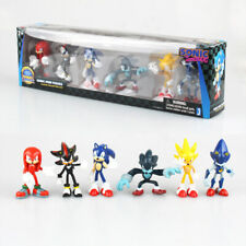 6 Pcs Sega Sonic The Hedgehog Action Figure Collection Pvc Toy Kids Gift In Box