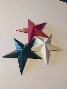 Metal Star Wall Decor, Assorted Colors, 9.5-Inch, 3-Piece