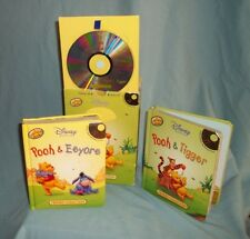 Disney Winnie The Pooh 2 Puffy Books With Learn Aloud And Musicial Cd With Box.