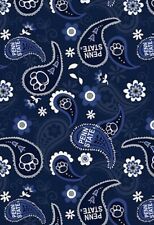PENN STATE UNIVERSITY PAISLEY FABRIC! WE ARE! 1/4 Yard! New!