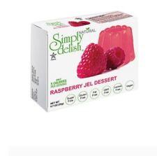 12 x 20g SIMPLY DELISH Raspberry Jel Dessert