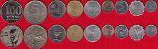 Israel set of 9 coins: 1 agora - 100 sheqalim 1960-1985 AU-UNC