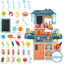 US 42PCS Kitchen Playset Pretend Play Toy Cooking Set With Light Sound