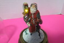 Franklin Mint Father Christmas Lighted Santa Glass Dome Francis Klein Limited