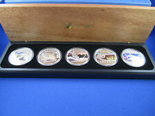 2012 Discover Australia Series, Silver Proof Five-Coin Set 1oz Complete.!!!