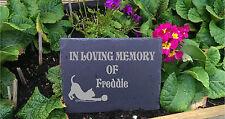 Pet Memorial Personalised Engraved Natural Slate   Plaque Rememberance Cat