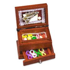Reutter Porzellan nähschatulle/Wood Sewing Box bambole Tube 1:12 ART 1.480/8