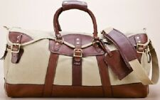 NEW Burke & Wills Men's Canvas/Leather Duffel Weekend Bag Was...LOWEST PRICES