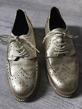 Womens Gold Loafers