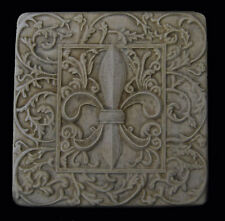 Fleur de Lis Lys Leis Leaf Decorative Backsplash Tile