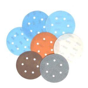 10 Scheiben 150mm 6-9-15-17 Loch Sandpaper 600-5000 Körnung Klett Schleifscheibe
