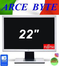 """MONITOR PC Fujitsu 22"""" B22W-5 LCD 1680x1050 VGA DVI FATTURABILE GRADO A++ WIDE"""