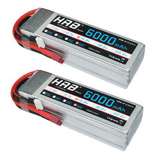 2pcs HRB 4S 6000mAh 14.8V 50C 100C LiPO Battery Car For RC Airplane Helicopter