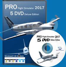 Flight Simulator Flightgear 2017 FULL DELUXE EDITION X Sim 5 DVD For Windows