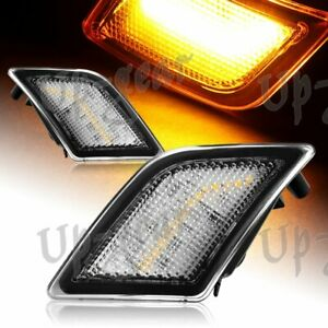 For 08-11 Mercedes Benz W204 C-Class Clear Lens Amber LED Side Marker Lights