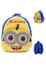 "14"" Plush Despicable Me Minions Backpack School Toy Travel Diaper Doll Game Bag"