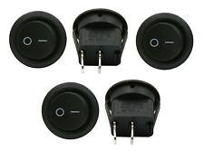 5 Pack 6a 250v 10a 125v Spst Onoff 2 Position Mini Round Rocker Switch 12v
