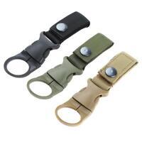 2x Karabiner Camping Wandern Wasserflasche Gürtel Schnalle Clip Halter Werkzeug