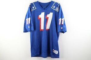 Vintage 90s Champion New England Patriots Drew Bledsoe Football Jersey #11 Sz 52