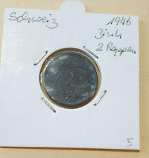 SCHWEIZ > 2 Rappen Zink > 1946 > KM 4A  > SELTENER JAHRGANG