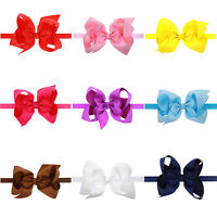 Infant Baby Girls Flower Bow Knot Head Band Hair Accessories Headwear Headwrap