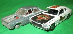 Corgi Toys Ford Capri Mk1 & Dinky Escort Mk1 incomplete for spares or repair