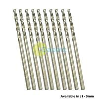 HSS Twist drill bit set 10pc 1mm 1.5mm 2mm 2.5mm 3mm