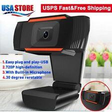 Webcam Auto Focusing Web Camera HD 720P Cam Microphone For PC Laptop Desktop US